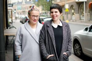 Karin Palmén ja Maria Ahonen. Kuva: Minna Lehtinen.
