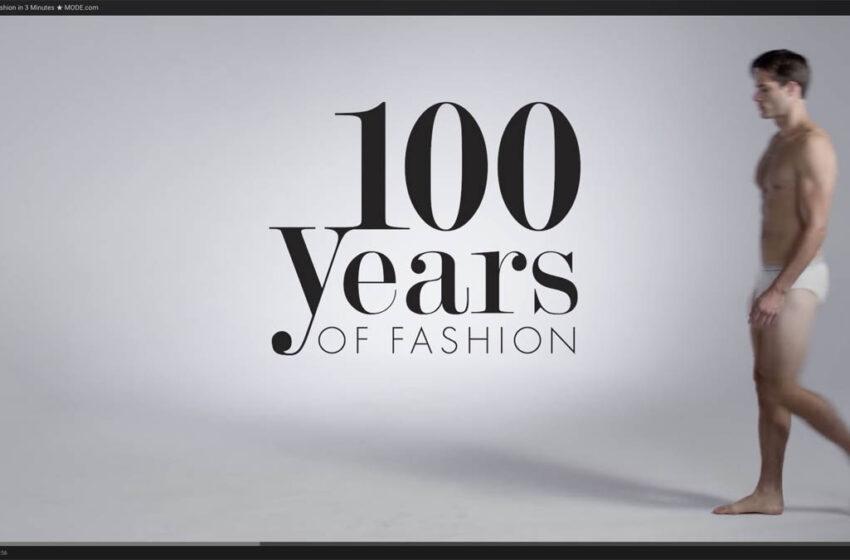 Video kokoaa miesten pukeutumistrendit viimeiseltä 100 vuodelta