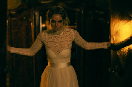 Samara Weaving in the film READY OR NOT.